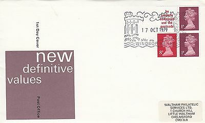 (81007) CLEARANCE GB FDC 10p Booklet Pane - Windsor 17 October 1979