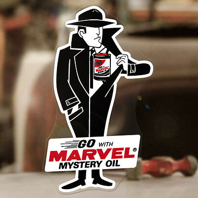 Marvel Mystery Oil Man Aufkleber Sticker Autocollant Old School Hot Rod STP