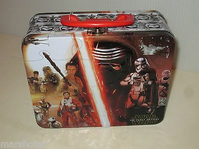 Star Wars The Force Awakens 100 Piece Jigsaw Puzzle In Lunchbox Tin Tote