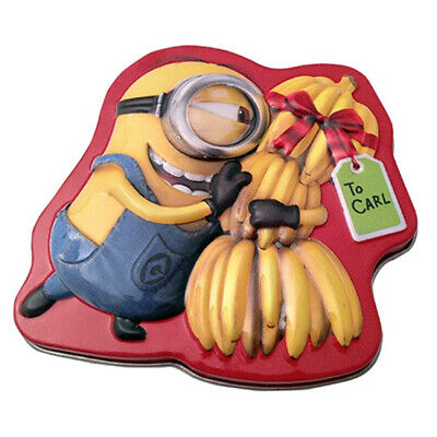 NEW SEALED Despicable Me Minions Cocoa Fart Gun Candy in Embossed Metal Tin