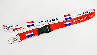 The Netherlands Flag Reversible Lanyard/keychain, New, Fast Free Shipping