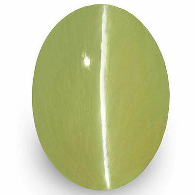 1.79-Carat Yellowish Green Chrysoberyl Cat's Eye from Ceylon (IGI-Certified)