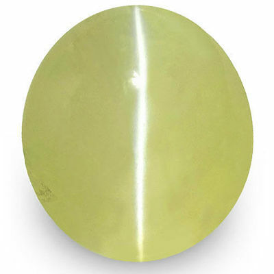 1.83-Carat Soft Greenish Yellow Ceylonese Chrysoberyl Cat's Eye (IGI-Certified)