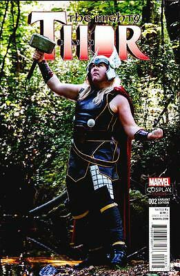 Mighty Thor #2 Cosplay Variant All New All Different Marvel 2015