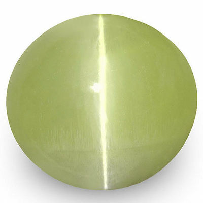 1.99-Carat Yellow Green Chrysoberyl Cat's Eye from Sri Lanka (IGI-Certified)