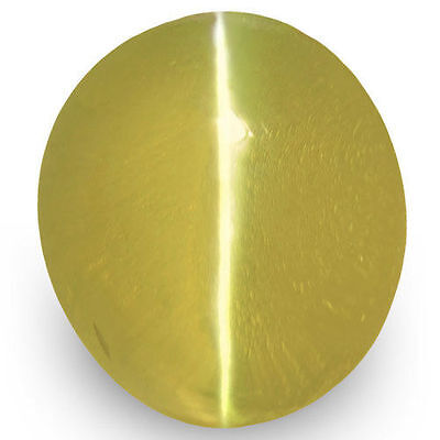 1.18-Carat Deep Brownish Yellow Ceylonese Chrysoberyl Cat's Eye (IGI-Certified)