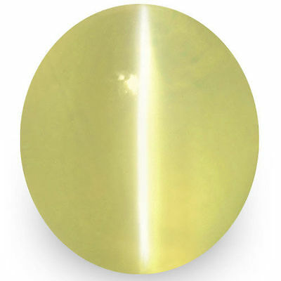 1.78-Carat Rare Flawless Light Yellow Chrysoberyl Cat's Eye from Ceylon