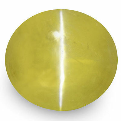 2.09-Carat Golden Yellow Chrysoberyl Cat's Eye from Ceylon (IGI-Certified)