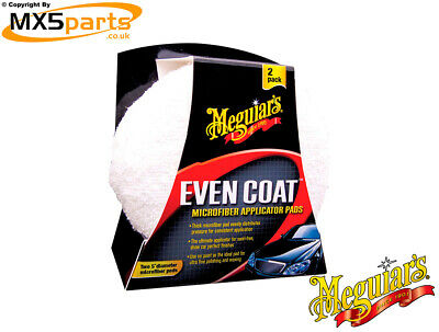 Meguiars Even Coat Applicator Pads Twin Pack Car Cleaning Polishing Valeting
