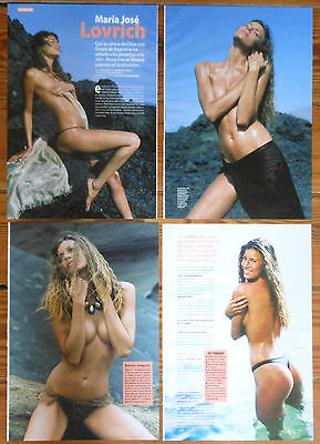 MARIA JOSE LOVRICH 6 page 2004 article sexy photos Argentina model magazine