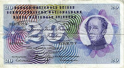 Schweiz / Switzerland 20 Franken Francs 1971 (4)