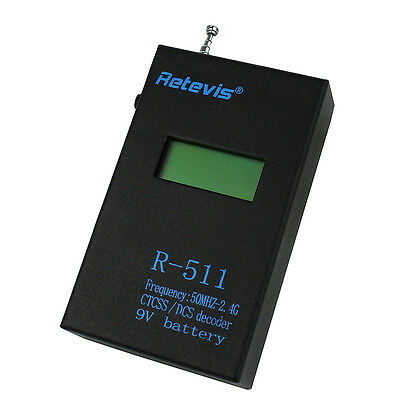 Retevis R-511 9V LCD Display Frequency CTCSS/DCS Decoder Counter Meter Test US