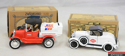 Lot ERTL 1930 Ford Roadster Dairy Queen #19237 1918 Tanker Total #H398 Coin Bank