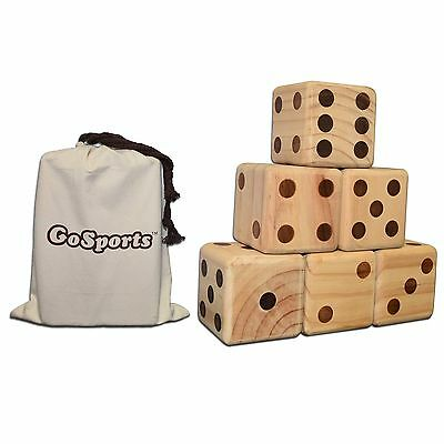Giant Wood Lawn Dice Set (Includes canvas carrying bag)