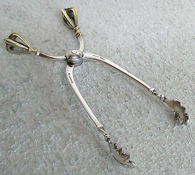 Excellent Sorensen Made Denmark Sterling Silver Large Sugar Scissors Tongs