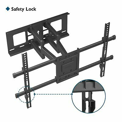 "TV Wall Bracket Mount Tilt & Swivel for 32 40 42 46 50 55 60 70"" Double Arms"