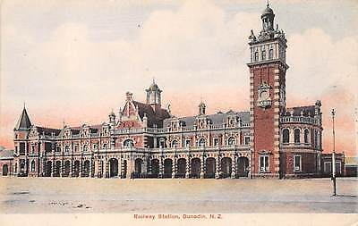 DUNEDIN, NEW ZEALAND ~ RAILROAD STATION ~ dated 1908