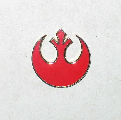 Classic Star Wars Rebel Alliance Red Logo Cloisonne Metal Pin Small Version, NEW