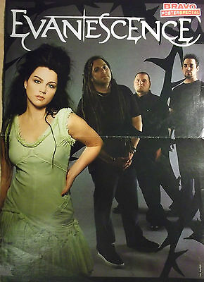 1 german poster EVANESCENCE AMY LEE NOT SHIRTLESS ROCK GIRL BOY BAND BOYS TEEN