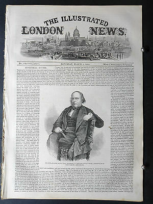 1860-ILLUSTRATED LONDON NEWS- Slave Ship,Montreal,Map Morocco,Arcot India Bridge