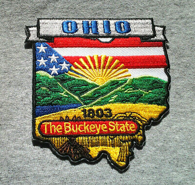 *** OHIO STATE MAP *** Biker Patch PM6736 EE