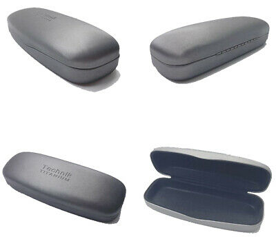 Designer Brink Collection Spectacles Glasses Hard Case, Metallic Silver Grey New