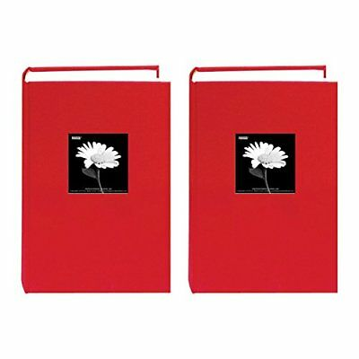 Pioneer 300 Pocket Fabric Frame Cover Photo Album (Apple Red) - Two Pack