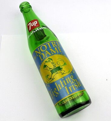7up Flasche USA Bottle 1973 Notre Dame Fighting Irish American Football