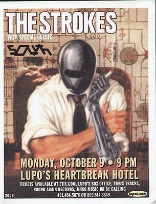 The Strokes Concert Flyer Providence Lupos 2006