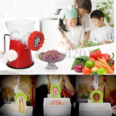 Kitchen Hand Operated Crank Meat Grinder Mincer Cast Iron Food Chopper Pork Beef