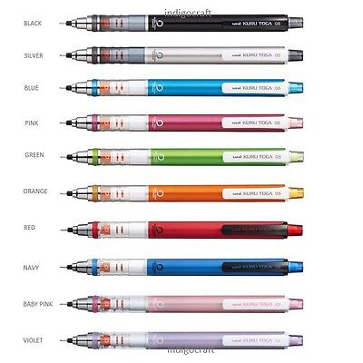 Uni Kuru Toga Standard Model Mechanical Pencils 0.5mm Assorted Colours
