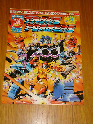 Transformers British Weekly #200 Marvel Uk Comic 1989 With Free Gift