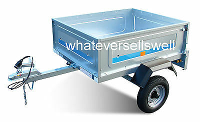 110 x 90 x 38cm BOX TRAILER fully type approved VIN plate 245kg Load Capacity