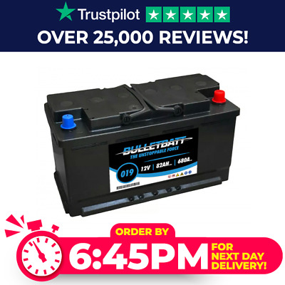 Heavy Duty 019 High Power Car Battery - Long Warranty - Next Day Delivery