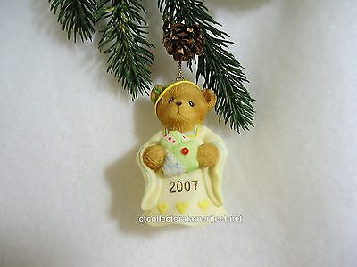Cherished Teddies Ornament 2007 Dated Bell Tis The Season To Be Filled...  NIB