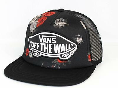 06345cd52d1 Vans Off The Wall Beach Girl Digital Rose Trucker Classic Patch Snapback  New NWT