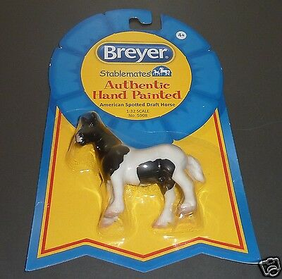 Breyer Stablemates # 5908, New on the Card ~ American Spotted Draft Horse