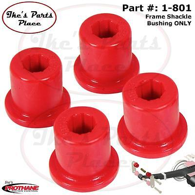 Prothane 1-801 Front Leaf Spring FRAME Shackle Bushing 76-86 Jeep CJ5&CJ6 Poly