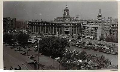 SHANGHAI, CHINA, POST OFFICE & SURROUNDINGS OVERVIEW, REAL PHOTO PC, c. 1940's