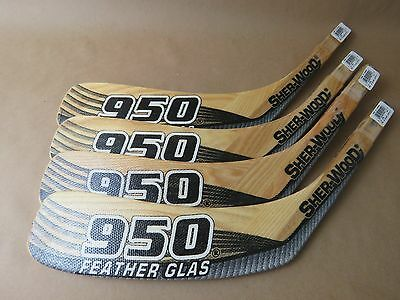 Lot of 4 Sherwood  950 Featherglas Coffey Jr Stick Replacement Blade JR LEFT