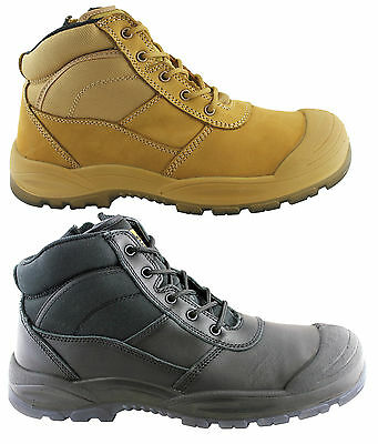 Hard Yakka Mens Utility Side Zip Safety Boots With Steel Cap Toe/industrial