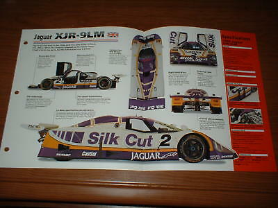 ★★1988 Jaguar Xjr-9Lm Spec Sheet Brochure Poster Print Photo 88 Le Mans Xjr-9★★
