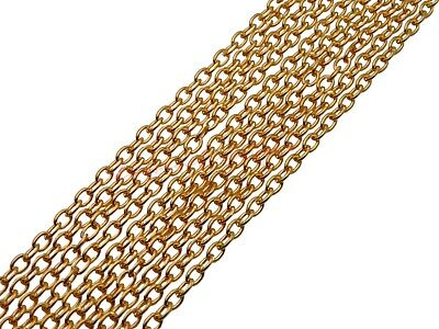 5 Metres of Gold Plated Chain 4mm x 3mm Jewellery Findings Beading Necklace K12