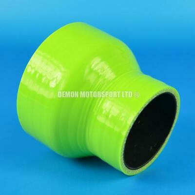 Silicone Hose Straight Reducer Green SELECT SIZE Demon Motorsport (Black Core)