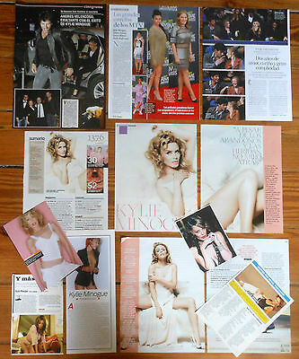 KYLIE MINOGUE spanish clippings 1980s/2010s photos magazine sexy pictures