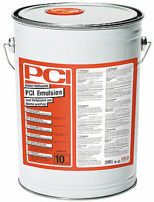 PCI Emulsion 10 kg Mortar adhesive additive for mortar Cleaning Heated screed &