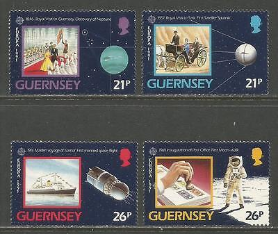 Guernsey 1991 Europa/Space Exploration--Attractive Science Topical (449-52) MNH