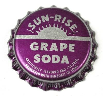 Sun-Rise Grape Soda Kronkorken USA Bottle Cap Plastikdichtung