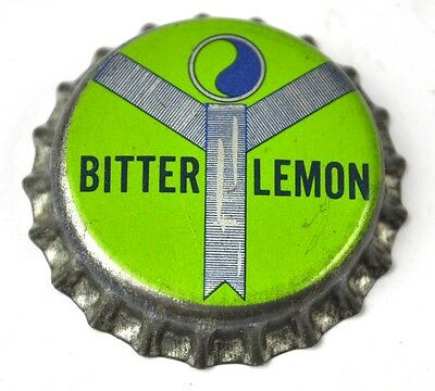 Bitter Lemon Soda Kronkorken USA Bottle Cap Korkdichtung