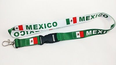 Mexico Flag Reversible Lanyard/keychain, New, Free Shipping